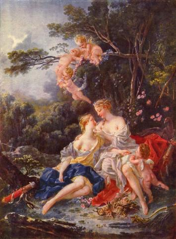"""Jupiter and Callisto"" François Boucher 1743"