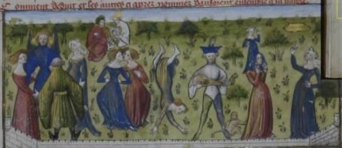 Roman de la Rose, people dancing