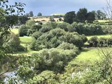 Newgrange seen across the Boyne